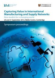 Capturing Value in International Manufacturing and Supply Networks