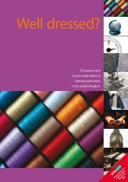 The present and future sustainability of clothing and textiles in the ...