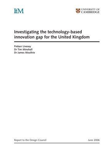 Final Report - Institute for Manufacturing - University of Cambridge