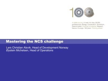 Mastering the NCS challenge