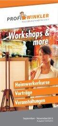 Workshops & more - Profi Winkler