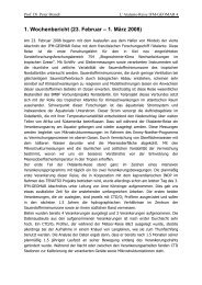 1. Wochenbericht (23. Februar – 1. März 2008)