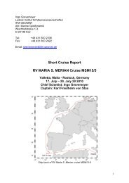 Short Cruise Report RV MARIA S. MERIAN Cruise MSM15/5