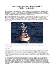 M80/2, Mindelo – Dakar ; Wochenbericht #3 7.12.2009 bis 13.12.2009