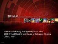 International Facility Management Association 2008 Annual Meeting ...