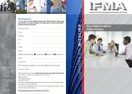 Flyer Neumitgliederaktion - IFMA Schweiz