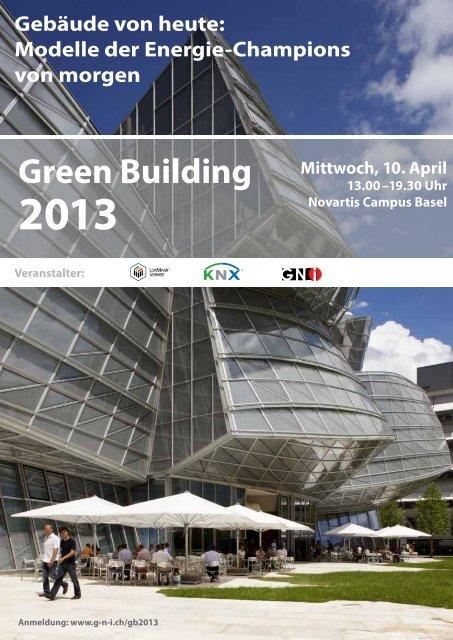 Flyer Green Building 2013 mit Programm - IFMA Schweiz
