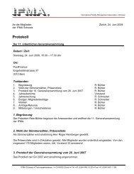 Protokoll - IFMA Schweiz