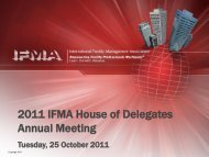 2011 IFMA House of Delegates Annual Meeting