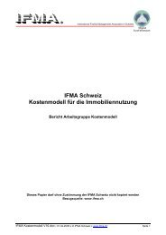 IFMA Schweiz Kostenmodell für die Immobiliennutzung