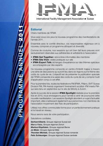 Téléchargement du Programme des manifestations - IFMA Schweiz