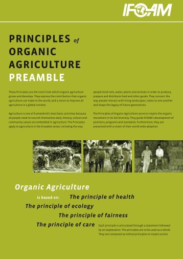PRINCIPLES of ORGANIC AGRICULTURE PREAMBLE - ifoam