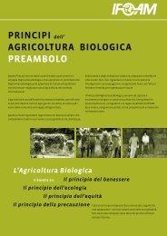 PRINCIPI dell' AGRICOLTURA BIOLOGICA PREAMBOLO - ifoam
