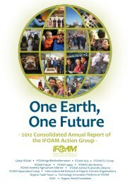 2012 Consolidated Annual Report of the IFOAM Action Group