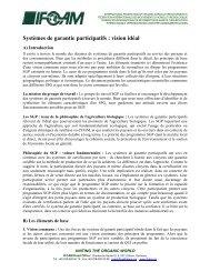 Systèmes de garantie participatifs : vision idéal - ifoam