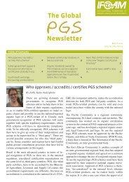 (PGS) Newsletter, March 2011 - ifoam