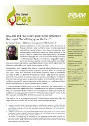 GAS, DES and PGS in Italy: Experiences gathered in the ... - ifoam