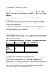 IAHA results from questionnaire - ifoam