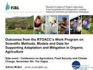 Outcomes from the RTOACC's Work Program on Scientific ... - ifoam
