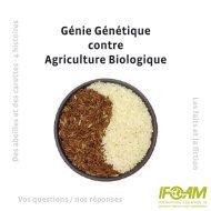 Génie Génétique contre Agriculture Biologique - ifoam
