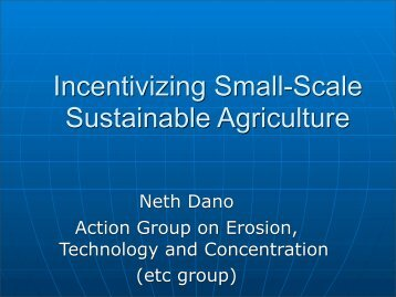 Neth Dano Action Group on Erosion, Technology and ... - ifoam