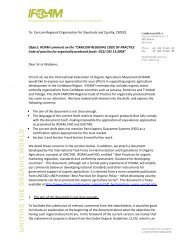 To: Caricom Regional Organisation for Standards and ... - ifoam