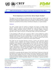 CBTF-IFOAM Initiative on Organic Agriculture Standards for East ...