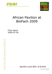 African Pavilion Report 2009 - ifoam