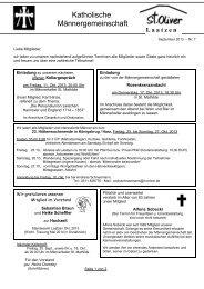 Katholische Männergemeinschaft - Bistum Hildesheim