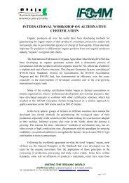 international workshop on alternative certification - ifoam