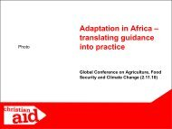 Adaptation in Africa – translating guidance into practice - ifoam
