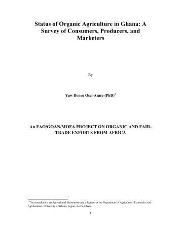 A Survey of Consumers, Producers, and Marketers - ifoam