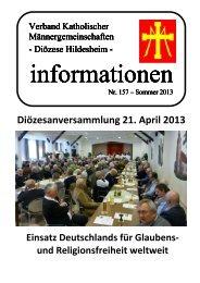Info 157 - Sommer 2013 - Bistum Hildesheim
