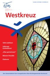 Westkreuz 23, September - November 2013 - Evangelische Elias ...