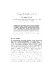 Ontology: The Discipline and the Tool - CEUR Workshop Proceedings