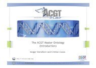 The ACGT Master Ontology (Introduction)