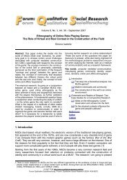 Ethnography of Online Role-Playing Games: The Role of  ... - Realities