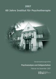 2007 60 Jahre Institut für Psychotherapie