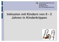 Inklusion mit Kindern von 0 - 3 Jahren in einer Kinderkrippe - IFP