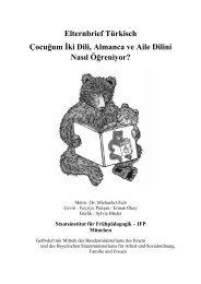 Elternbrief Türkisch Çocuğum İki Dili, Almanca ve Aile Dilini ... - IFP