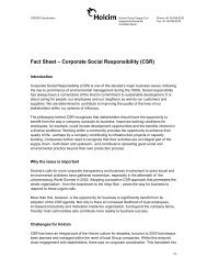 Fact Sheet – Corporate Social Responsibility (CSR)
