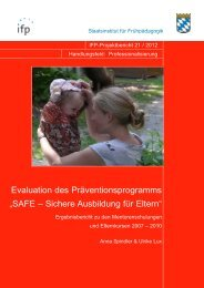 SAFE – Sichere Ausbildung für Eltern - IFP - Bayern