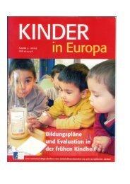 Bildungspläne und Evaluation in der frühen Kindheit ... - IFP - Bayern