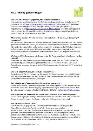 FAQs - Häufig gestellte Fragen - IFP - Bayern