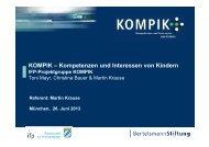 KOMPIK – Kompetenzen und Interessen von Kindern - IFP