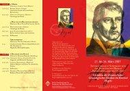 Programm Hegeltagung als PDF - Institut für Philosophie - Friedrich ...