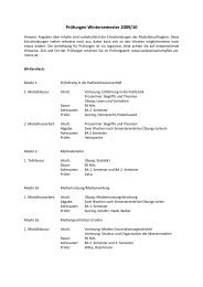 Prüfungen Wintersemester 2009/10