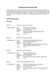 Prüfungen Sommersemester 09