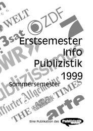 1999 Erstsemester Info Publizistik - Institut für Publizistik - Johannes ...