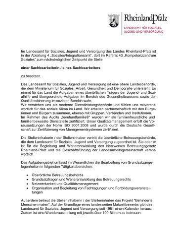Landesamt für Soziales, Jugend und Versorgung - Ministerium für ...